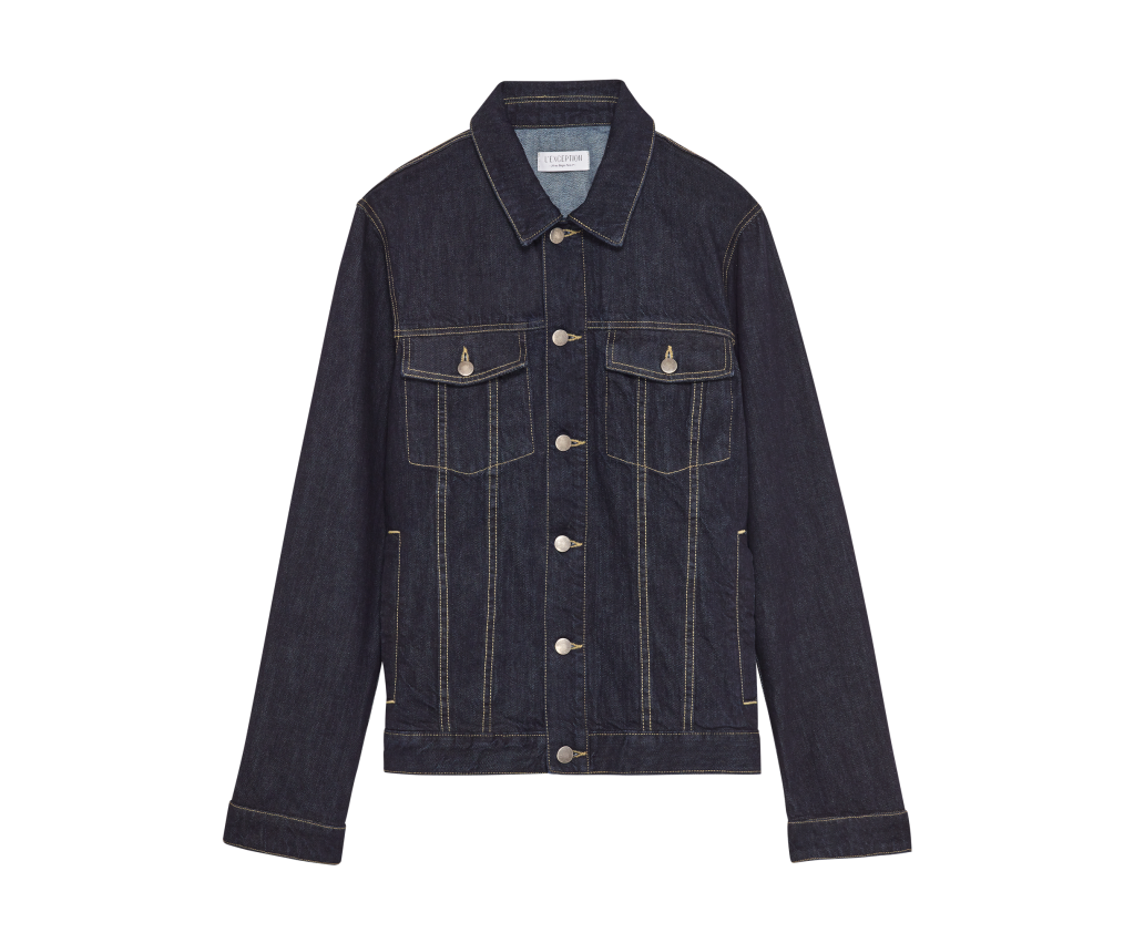 A denim jacket from the line.