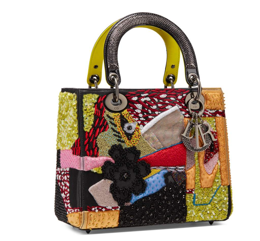 Dior Lady art bag designed by Mickalene Thomas