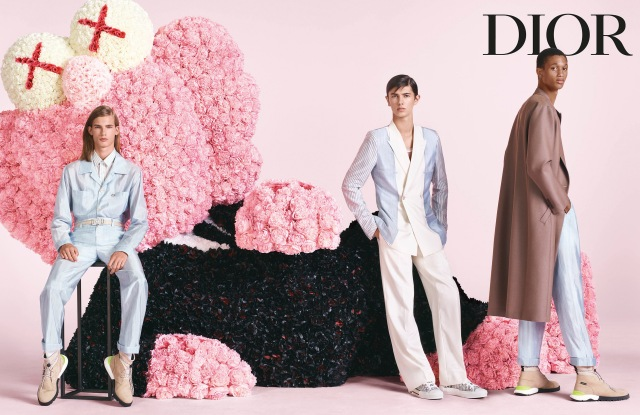 An image from the first Dior ad campaign by men's artistic director Kim Jones.