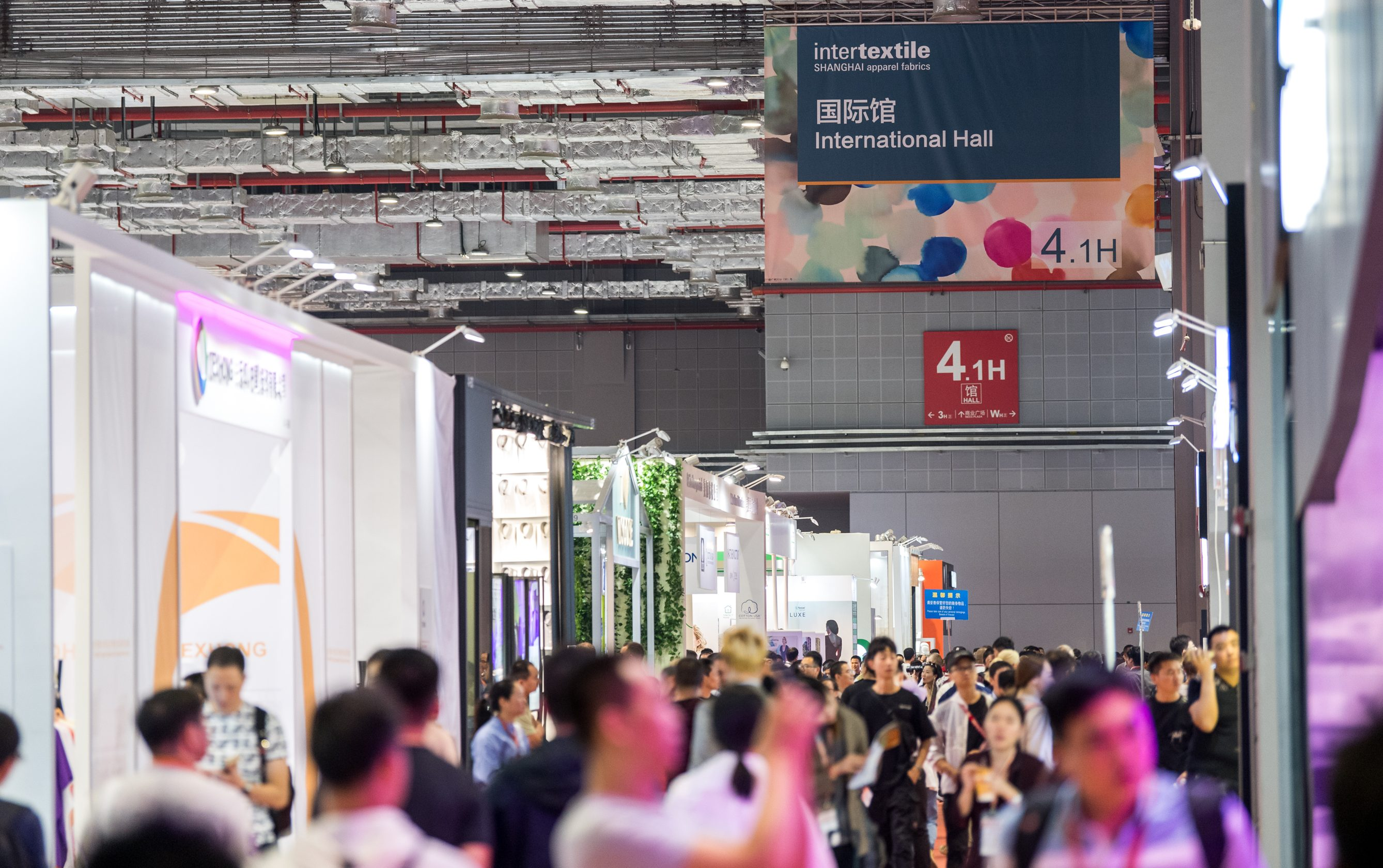 Exhibitors at Intertextile Shanghai expressed worries over the impact of the brewing U.S.-China trade war.