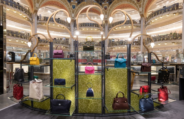 The Ethan K space at Galeries Lafayette.