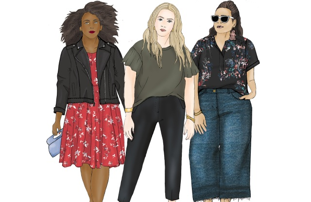 A sketch of EVRI, a plus-size collection launching in the spring at Kohl's.
