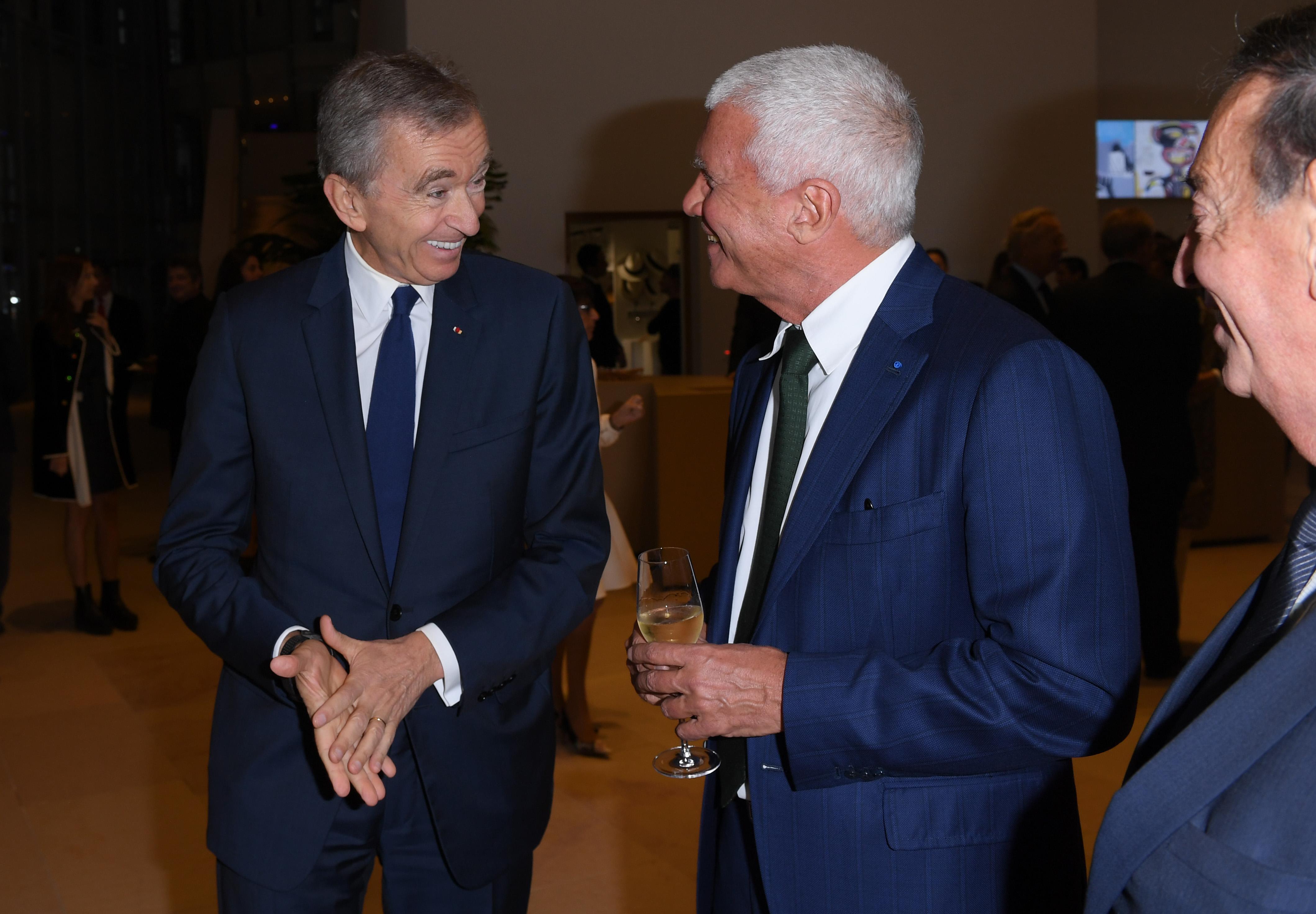 Bernard Arnault and Larry Gagosian