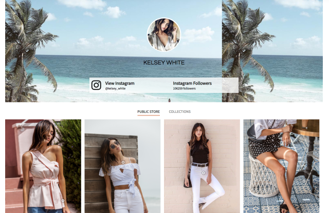Foray's influencer storefront allows consumers to shop curated e-commerce storefronts.