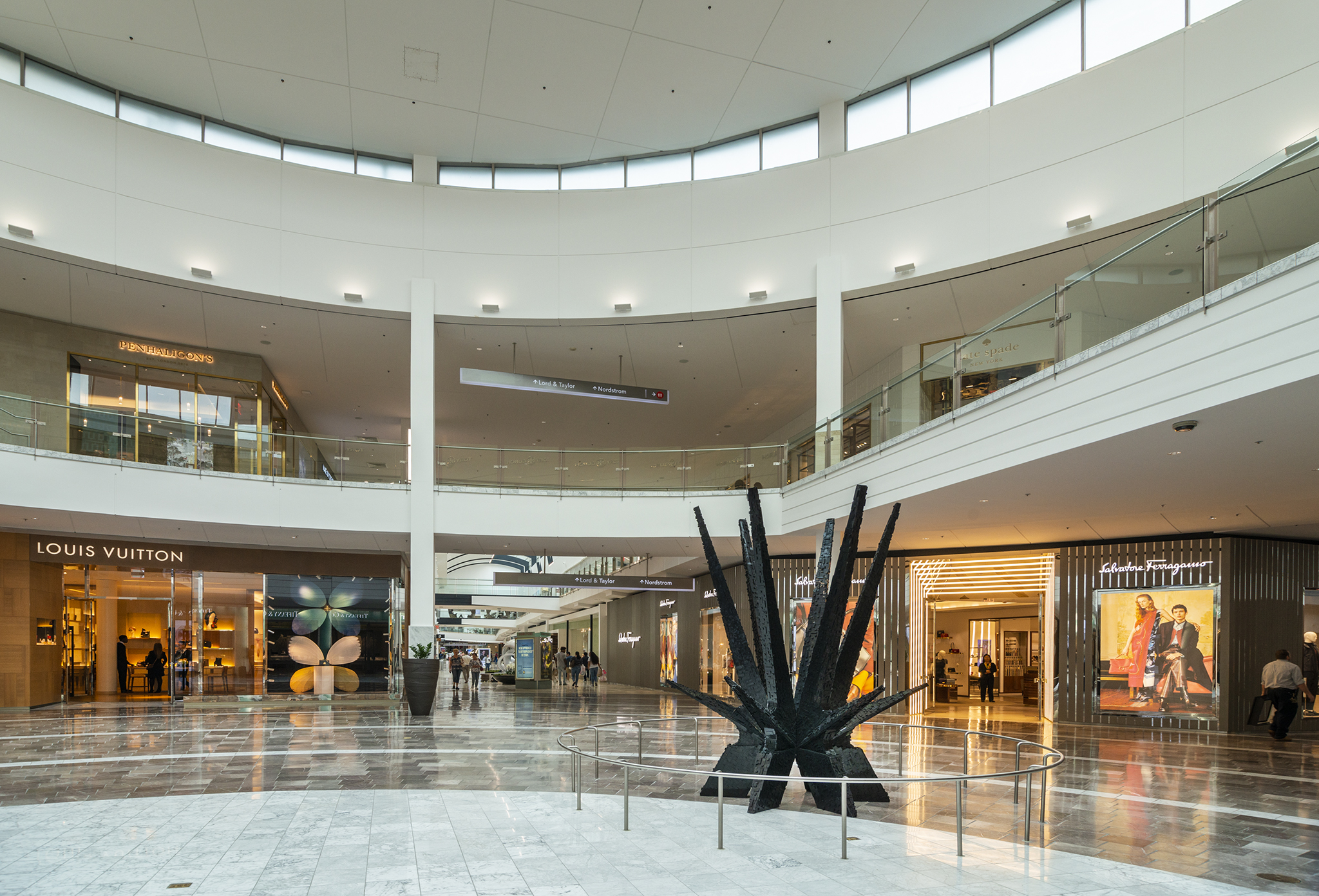 Art meets commerce at the increasingly upscale shopping hub.