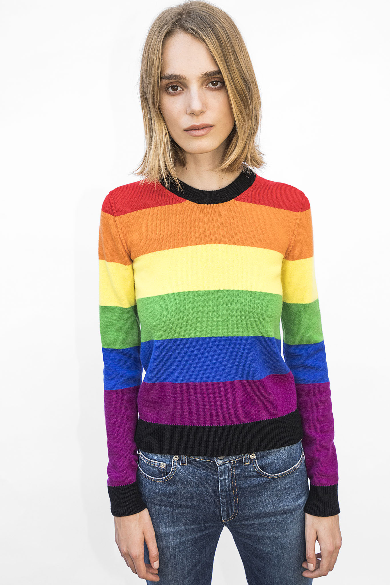 Langley Fox designed a sweater for a Sonia Rykiel charity capsule collection.