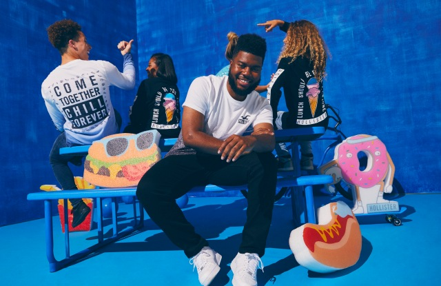 Khalid and Hollister, for the Holiday 2018 antibullying campaign.