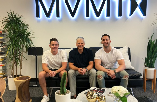 Movado's CEO Efraim Grinberg (center), with MVMT's Jake Kassan (right) and Kramer LaPlante (left)