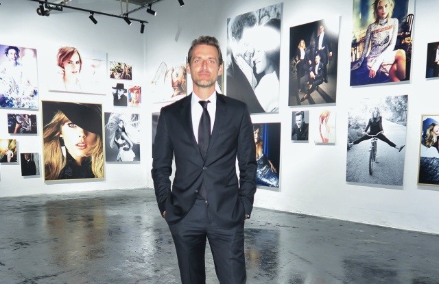 Alexi Lubomirski at his new show in Shanghai.