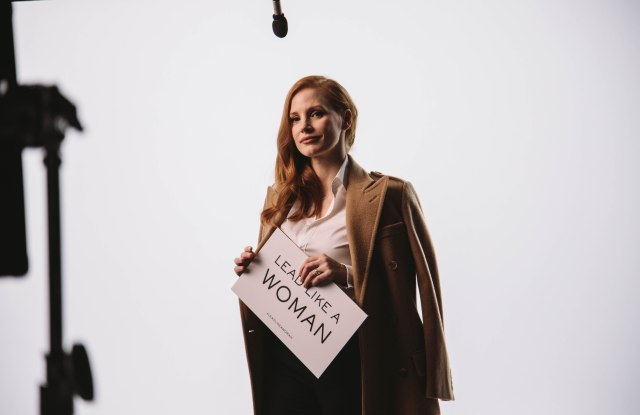 "Jessica Chastain for ""Lead Like a Woman"" initiative."