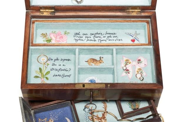 Bespoke jewelry box and jewelry by Jessica McCormack