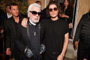 Karl Lagerfeld and Will Peltz