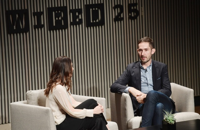 SAN FRANCISCO, CA - OCTOBER 15:  Lauren Goode and Kevin Systrom speak onstage at WIRED25 Summit: WIRED Celebrates 25th Anniversary With Tech Icons Of The Past & Future on October 15, 2018 in San Francisco, California.  (Photo by Matt Winkelmeyer/Getty Images for WIRED25  )