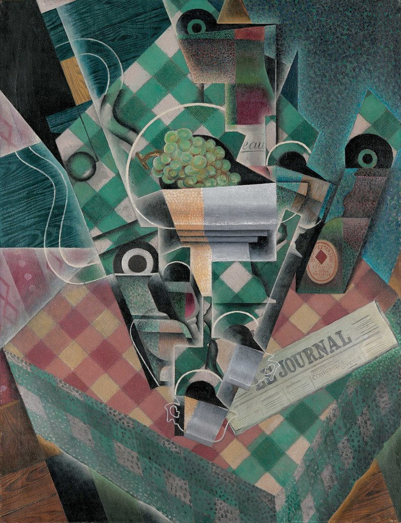 Juan Gris (Spanish, 1887Ð1927)Still Life with Checked TableclothParis, spring 1915Oil on canvas45 7/8 x 35 1/8 inches (116.5 x 89.2 cm)The Metropolitan Museum of Art, Leonard A. Lauder Cubist Collection, Purchase, Leonard A. Lauder Gift, 2014