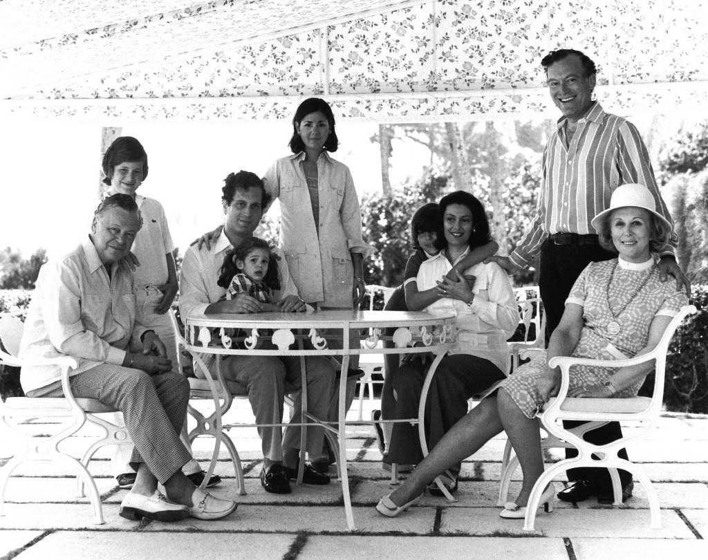 The Lauders in the Seventies: Joseph (Leonard and Ronald's father and Estée's husband); William; Ronald; Aerin; Jo Carole; Gary; Evelyn; Leonard and Estée Lauder