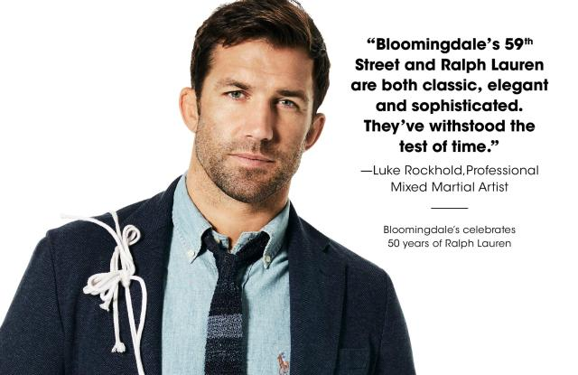 Luke Rockhold in the Bloomingdale's Heart of New York campaign.