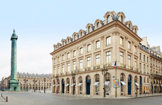 Louis Vuitton's Paris flagship in Place Vendome