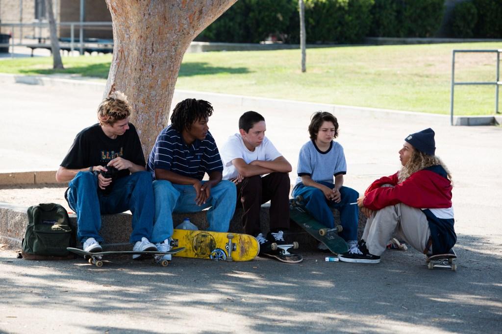"Ryder McLaughlin as Fourth Grade, Na-Kel Smith as Ray, Gio Galicia as Ruben, Sunny Suljic as Stevie and Olan Prenatt as F--ks--t in ""Mid90s."""
