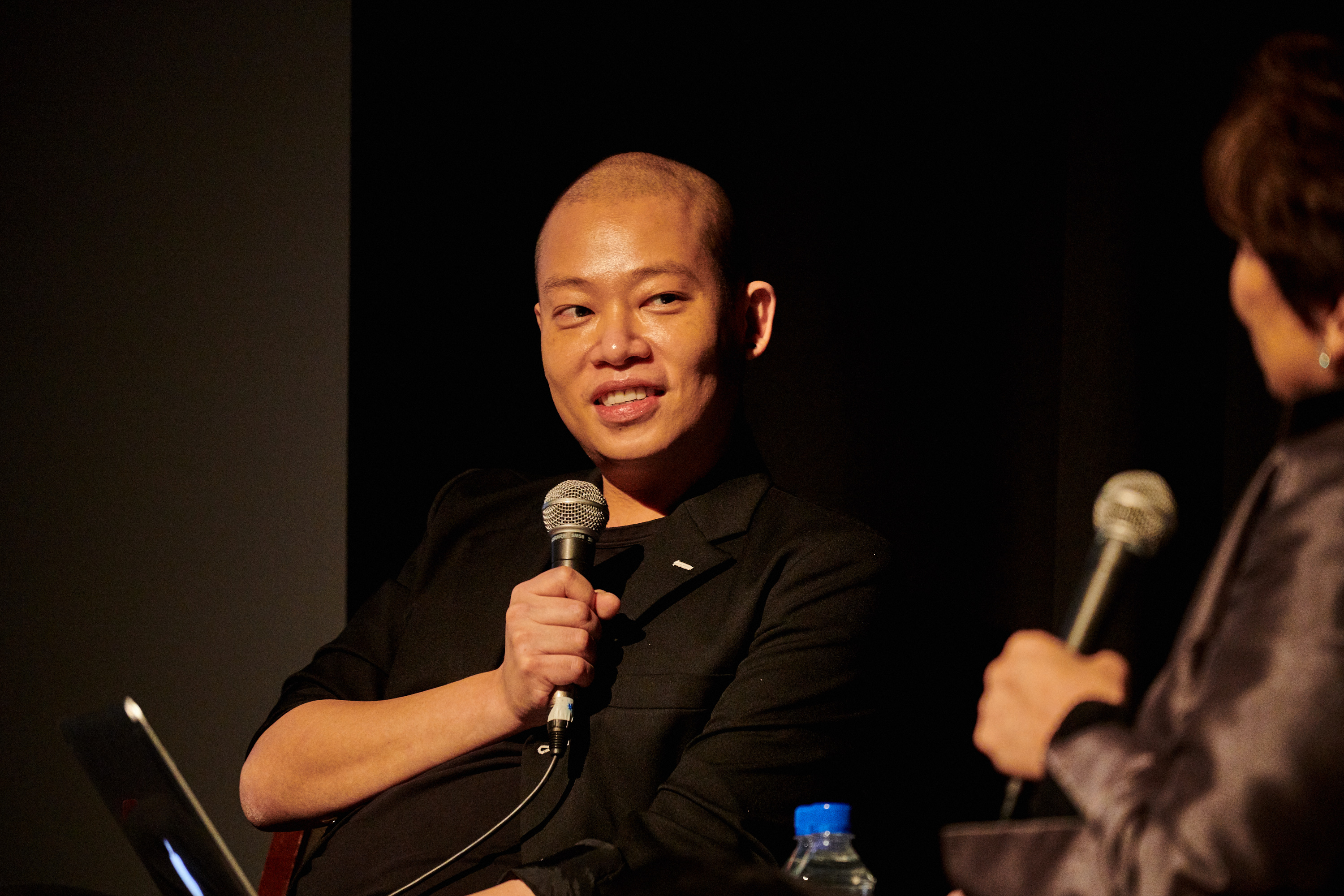 Jason Wu onstage at Los Angeles County Museum of Art