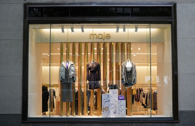The exterior of the Maje Boutique at Rockefeller Center.