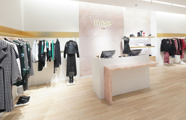 The check-out area at Maje.