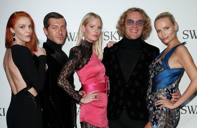 Mariacarla Boscono, Evangelo Bousis, Caroline Winberg, Peter Dundas and Natasha Poly.