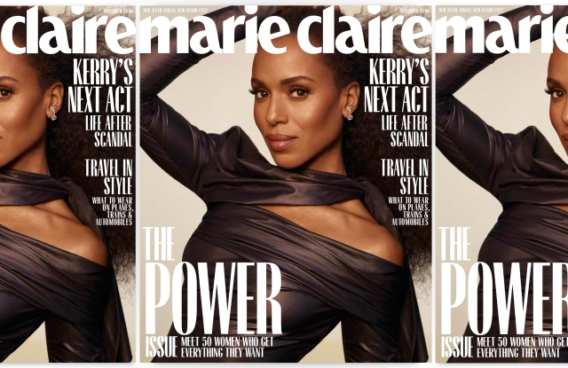 Kerry Washington on the November cover of Marie Claire.