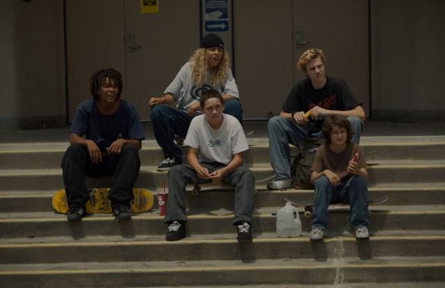 Clockwise from left: Na-Kel Smith as Ray, Olan Prenatt as F--ks--t, Ryder McLaughlin as Fourth Grade, Sunny Suljic as Stevie and Gio Galicia as Ruben.