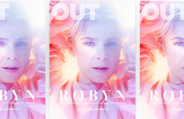 Out's October cover featuring singer Robyn