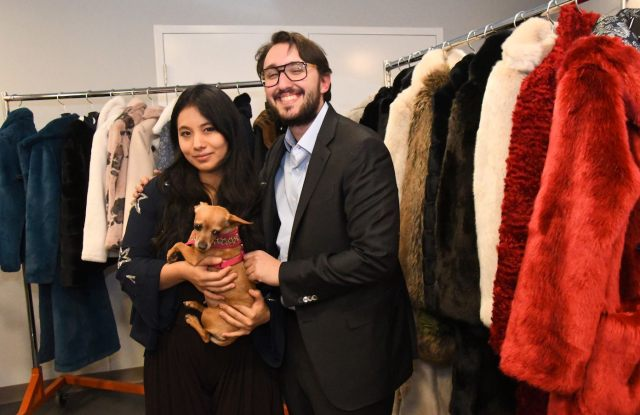 Chloe Mendel and Gustave Maisonrouge at the PAWS Chicago event.