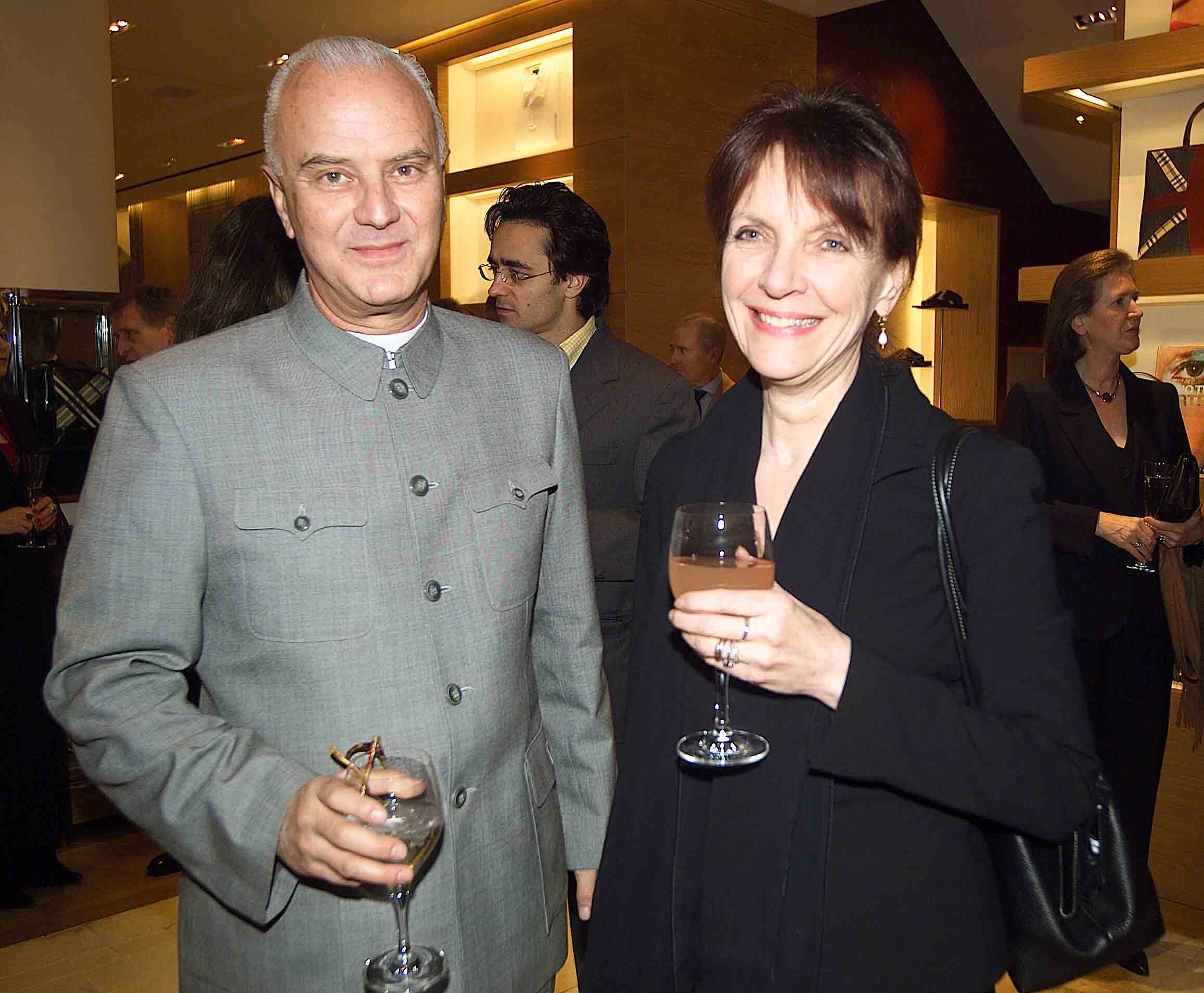 Manolo Blahnik and Anna Harvey