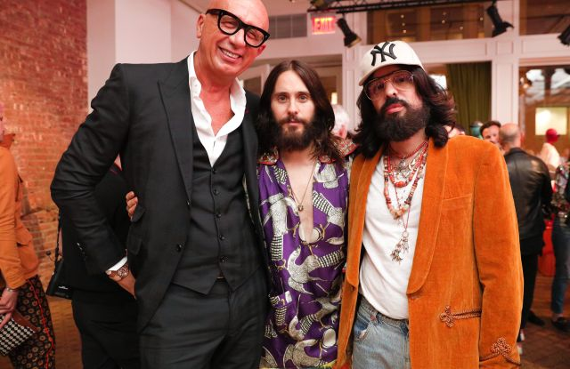 Marco Bizzarri, Jared Leto, Alessandro MicheleGucci Wooster opening, New York, USA - 05 May 2018