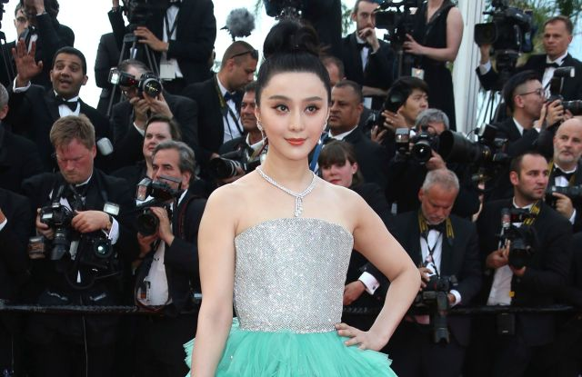 Fan Bingbing at the Cannes Festival, one of the last high profile appearances she made before vanishing from the public eye in June.