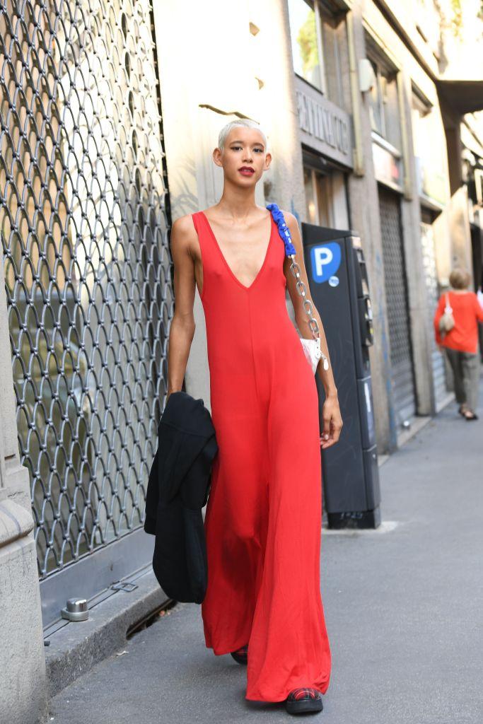 DiloneStreet Style, Spring Summer 2019, Milan Fashion Week, Italy - 23 Sep 2018