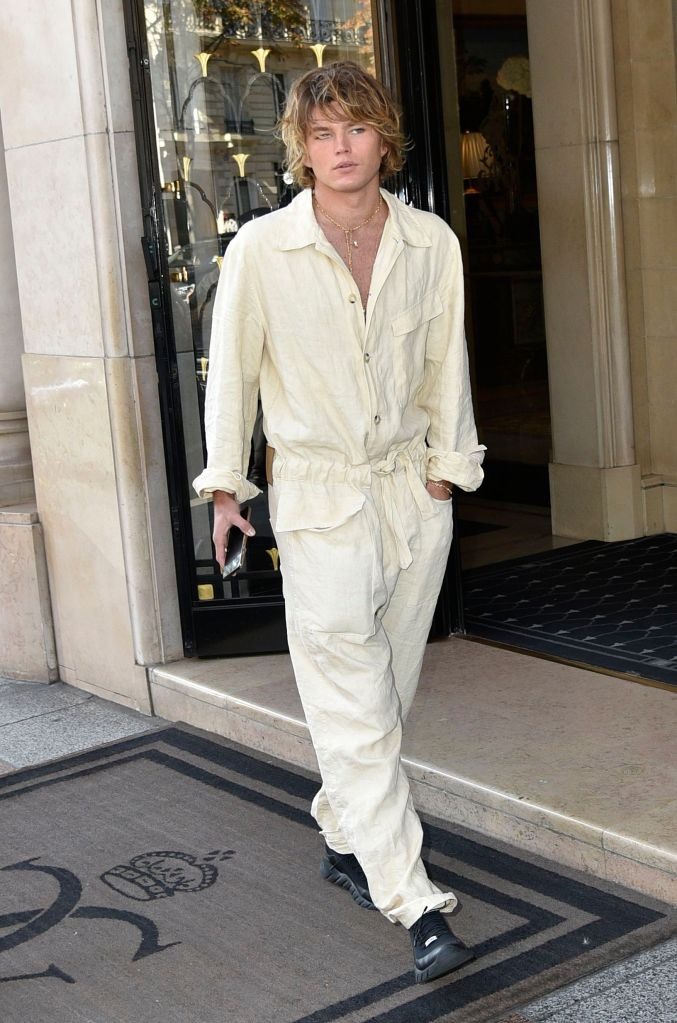 Jordan BarrettJordan Barrett out and about, Paris Fashion Week, France - 27 Sep 2018