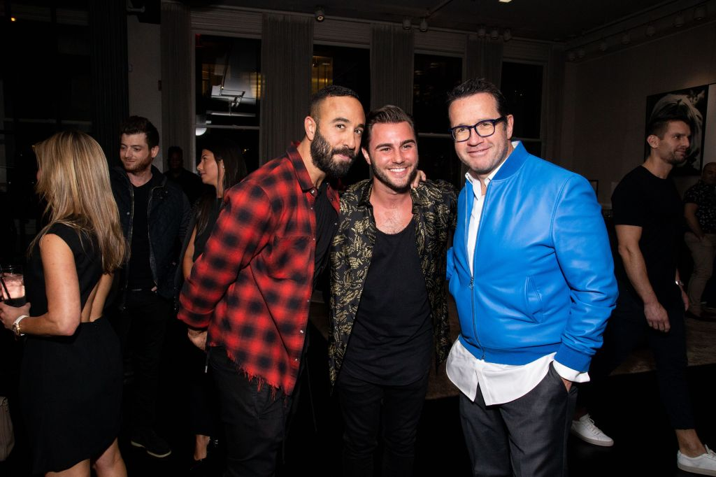 Rob Ronen, Steven Forkosh, Francois-Henry BennahmiasJohn Mayer in concert at Material Good, New York, USA - 04 Oct 2018