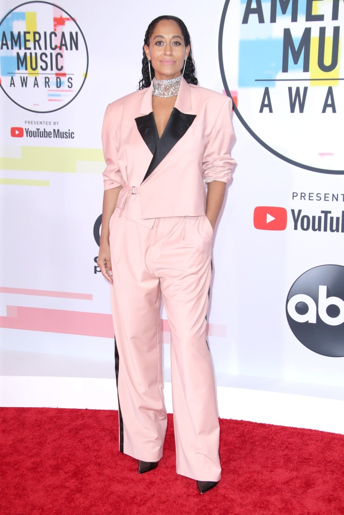 Tracee Ellis RossAmerican Music Awards, Arrivals, Los Angeles, USA - 09 Oct 2018WEARING PYER MOSS SAME OUTFIT AS CATWALK MODEL *9877081e