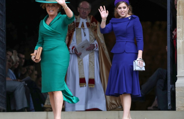 Sarah Ferguson Duchess of York and Princess BeatriceThe wedding of Princess Eugenie and Jack Brooksbank, Pre-Ceremony, Windsor, Berkshire, UK - 12 Oct 2018