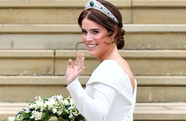 Princess EugenieThe wedding of Princess Eugenie and Jack Brooksbank, Pre-Ceremony, Windsor, Berkshire, UK - 12 Oct 2018WEARING PETER PILOTTO