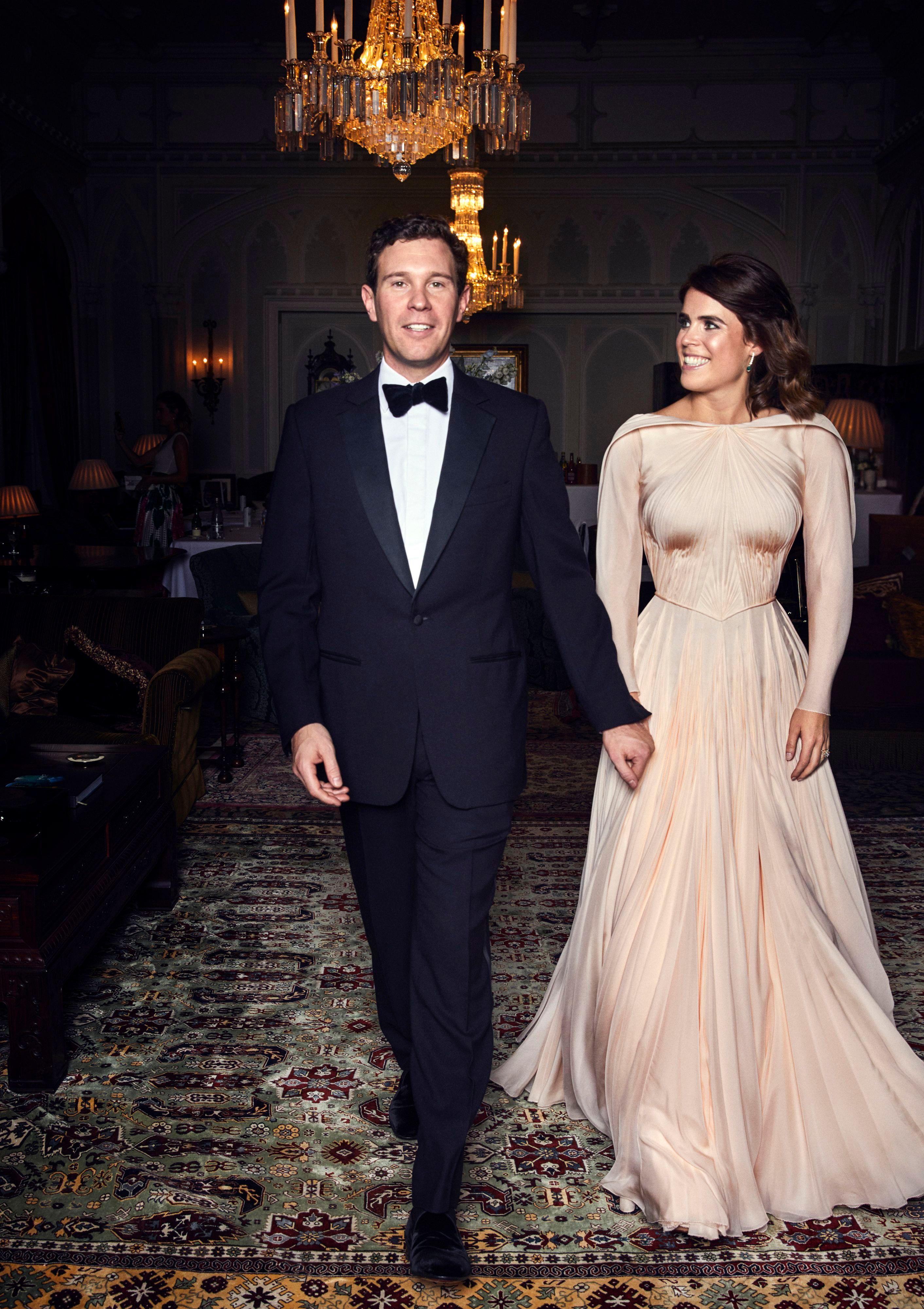 Princess Eugenie's evening dress designed by Zac Posen