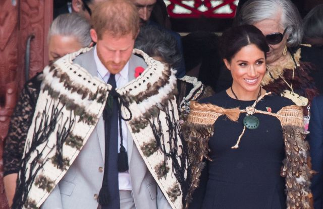 Prince Harry and Meghan Duchess of Sussex visit Te Papaiouru Marae for a formal powhiri and luncheon in Rotorua, New Zealand.Prince Harry and Meghan Duchess of Sussex tour of New Zealand - 31 Oct 2018