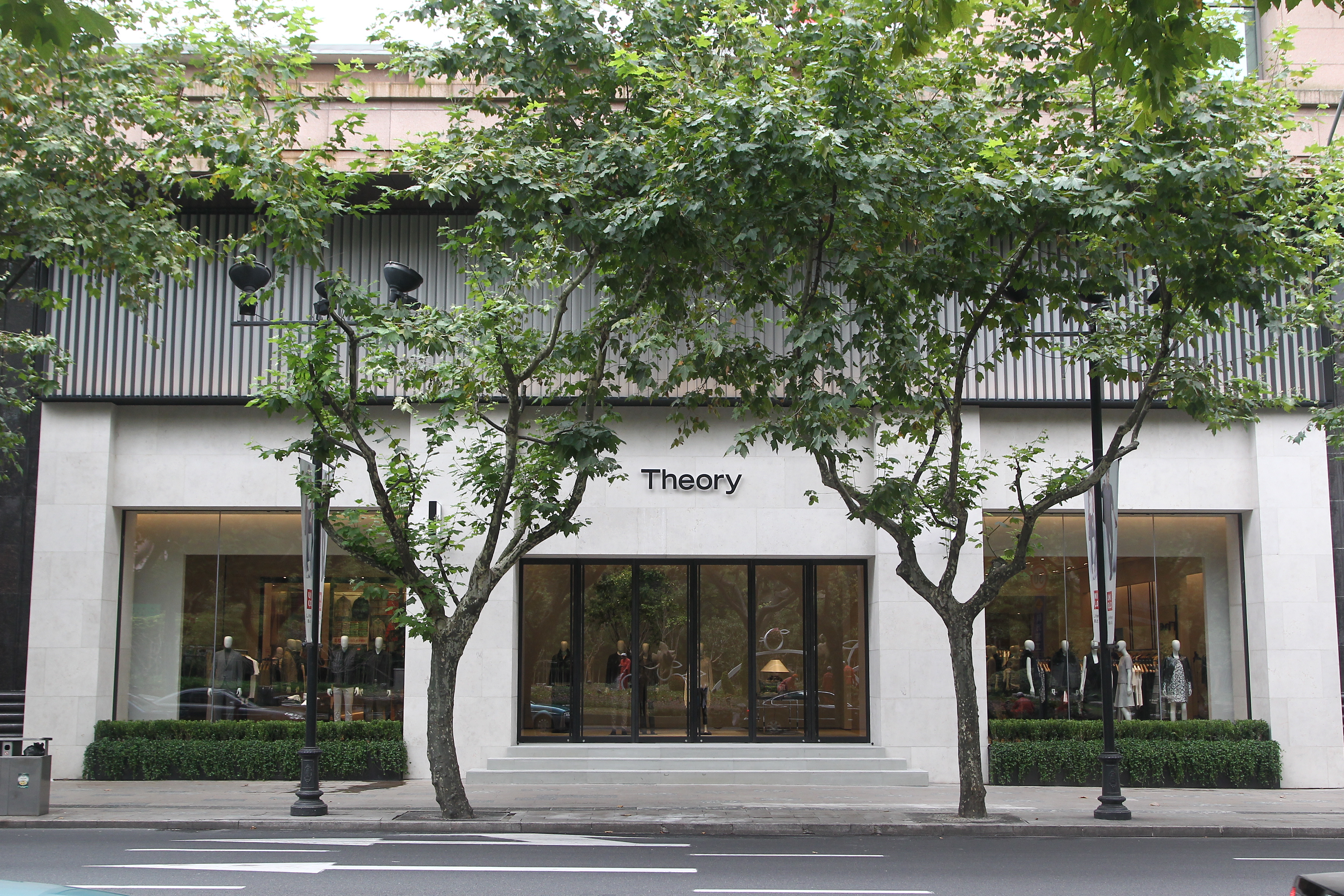Theory's Shanghai flagship store.