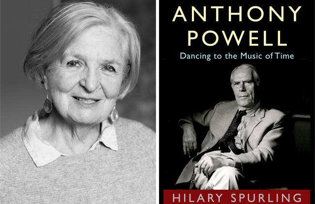 From Left: Hilary Spurling and her book Anthony Powell: Dancing to the Music of Time.