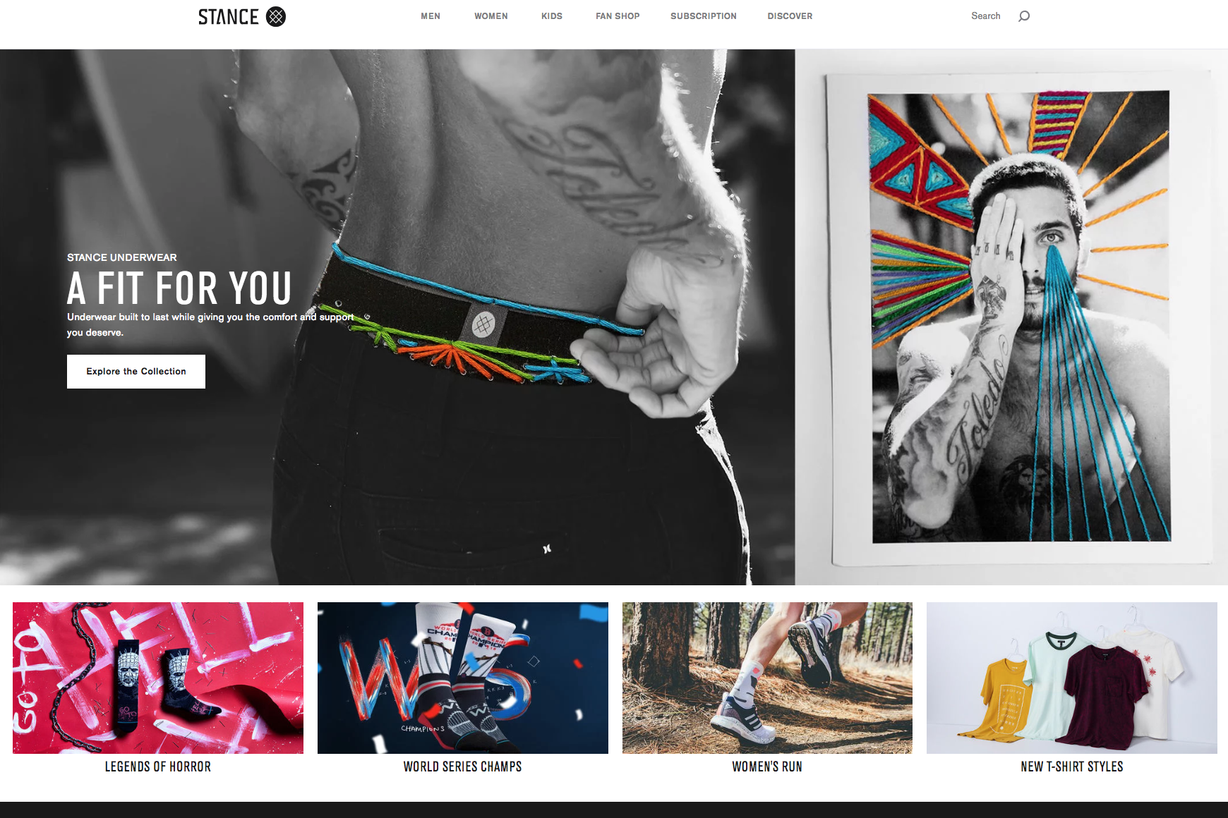 The Stance website.