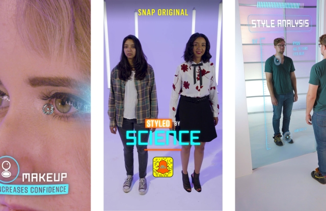 """Styled By Science,"" an original series coming to Snapchat, bases makeovers on scientific data."