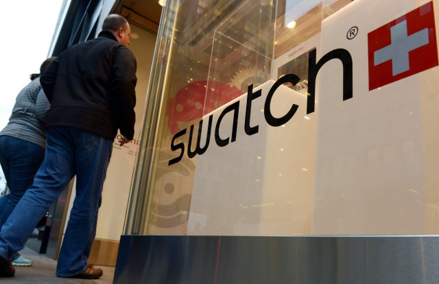 A view of a Swatch store in New York