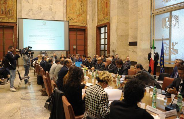The 'Tavolo della Moda' roundtable held in Rome on Oct. 9.