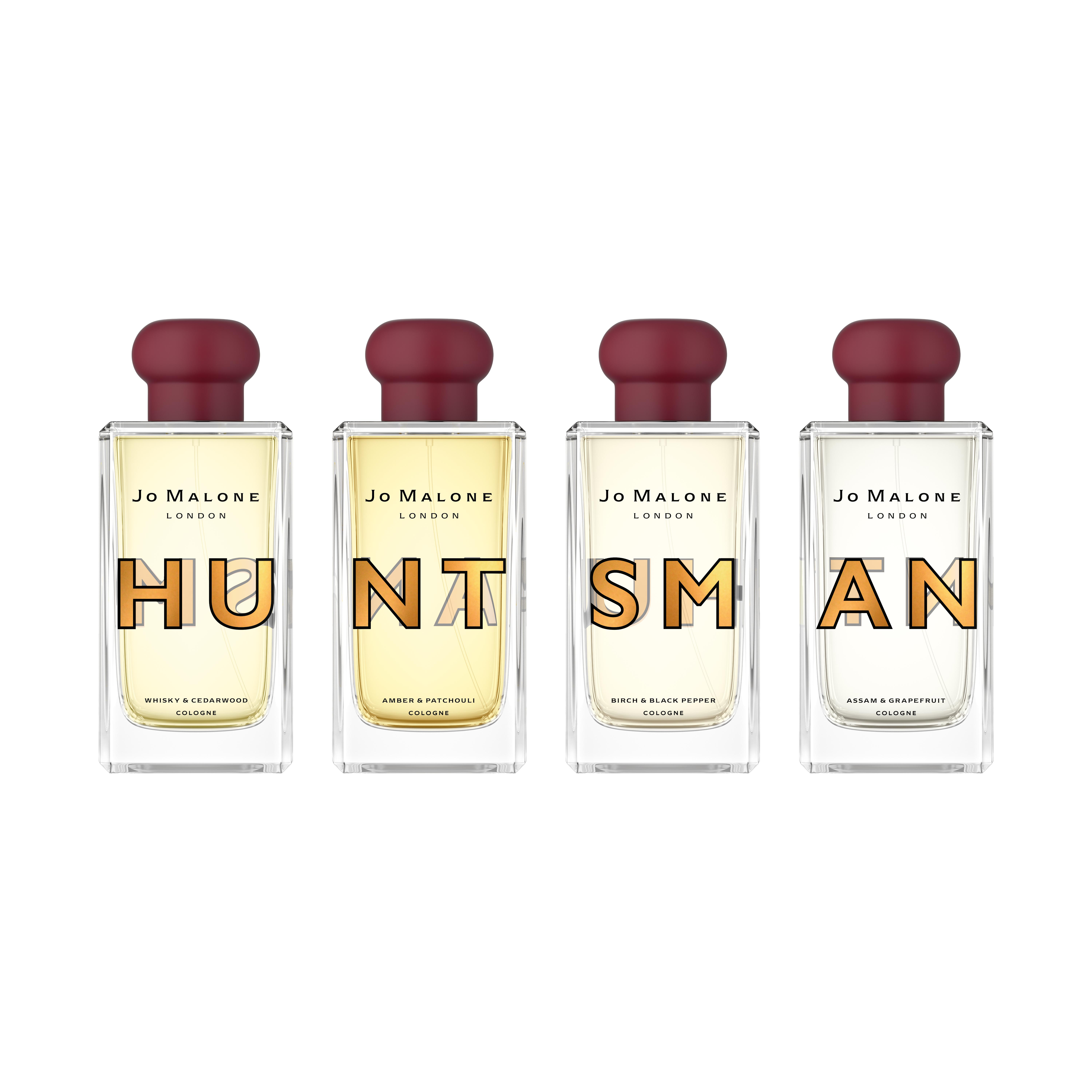 Savile Row tailor Huntsman and Jo Malone have collaborated on a set of four men's colognes