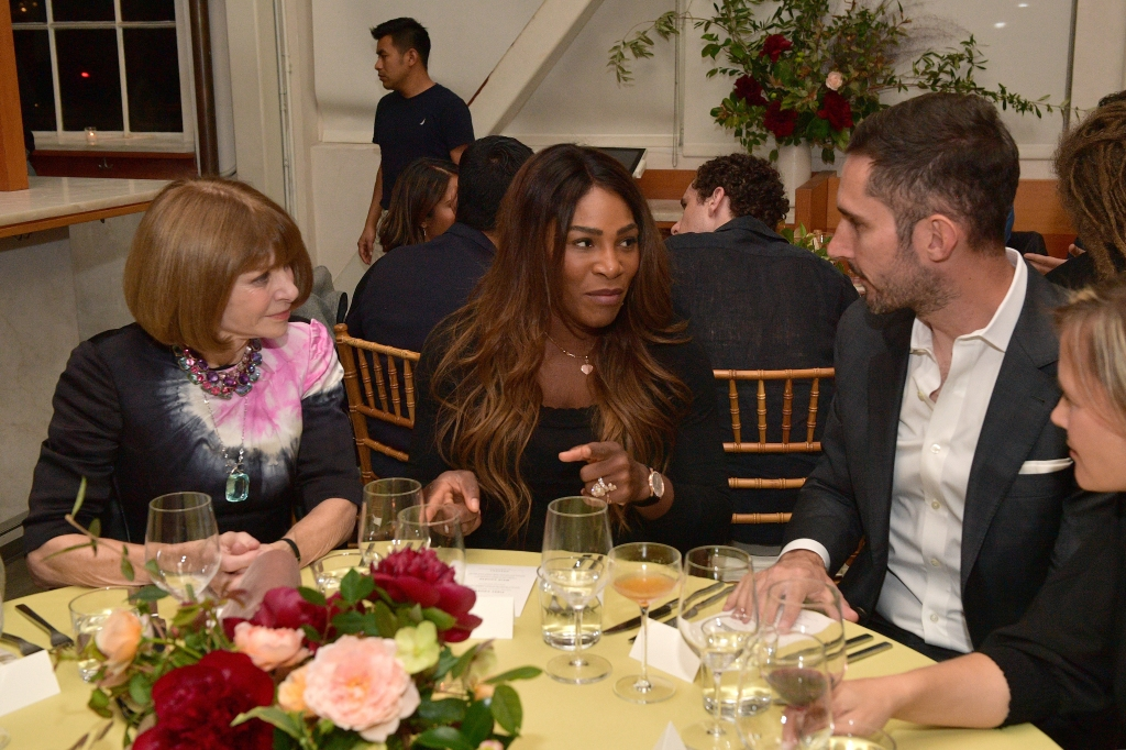 SAN FRANCISCO, CA - OCTOBER 14: Anna Wintour, Serena Williams and Kevin Systrom attend VIP Dinner For WIRED's 25th Anniversary, Hosted By Nicholas Thompson And Anna Wintour at Tartine Manufactory on October 14, 2018 in San Francisco, California. (Photo by Matt Winkelmeyer/Getty Images for WIRED25 )