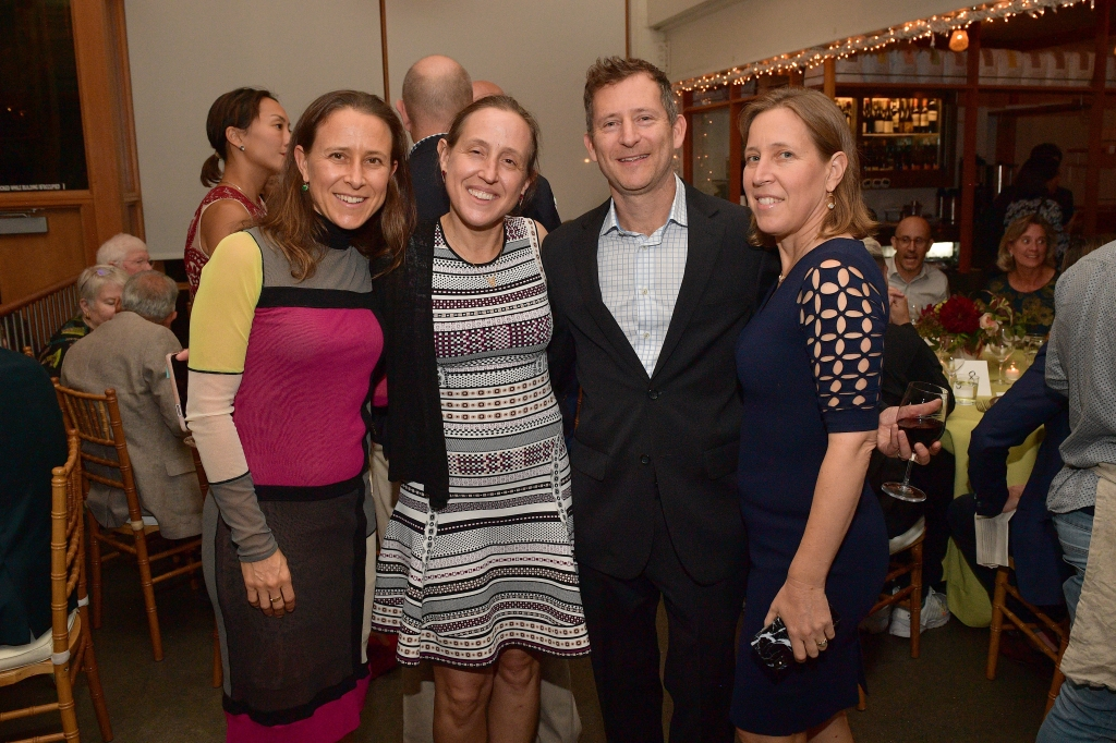 SAN FRANCISCO, CA - OCTOBER 14: Anne Wojcicki, Janet Wojcicki, Dennis Troper and Susan Wojcicki attend VIP Dinner For WIRED's 25th Anniversary, Hosted By Nicholas Thompson And Anna Wintour at Tartine Manufactory on October 14, 2018 in San Francisco, California. (Photo by Matt Winkelmeyer/Getty Images for WIRED25 )